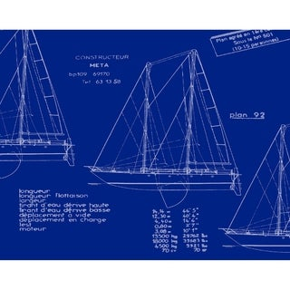 18 x 14 Inch Sail Plan Trio Geometric Print Placemat (Set of 4)