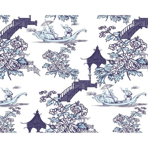 18 x 14 Inch China Old Floral Print Placemat (set of 4)