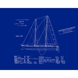 18 x 14 Inch Sail Plan Geometric Print Placemat (Set of 4)