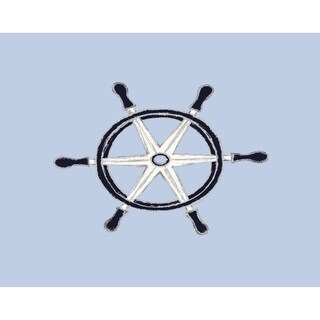 18 x 14 Inch Ship Wheel Geometric Print Placemat (Set of 4)