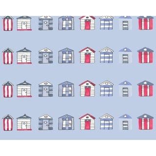 18 x 14 Inch Multi Beach Hut Stripe Print Placemat (Set of 4)