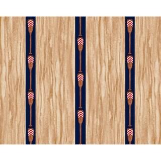 18 x 14 Inch Oar Stripe Trio Stripe Print Placemat (Set of 4)