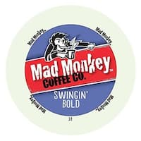 Mad Monkey Swingin' Bold Dark Roast Coffee With Intense, Rich Flavors, RealCups for Keurig Brewers 48 Count