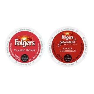 Folgers Classic Roast Coffee, Folgers Lively Colombian Gourmet Selections Coffee K-Cup Packs 48 Count