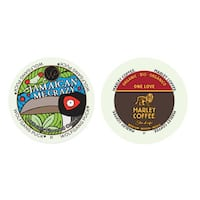 Wolfgang Puck Jamaica Me Crazy, Marley Coffee One Love Medium Flavored Coffee, RealCup Pack for Keurig Brewers 48 Count