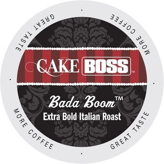 Cake Boss Bada Boom Italian Roast, Extra Dark And Bold, Single Serve Coffee Cups for Keurig K-Cup Brewers 96 Count