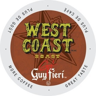 Guy Fieri West Coast Traditional Dark, Big and Bold Kosher Certified Single Serve Coffee Cups for Keurig Brewers 96 Count