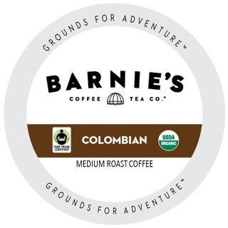 Barnie's Fairtrade Organic Colombian Dark Roast And Extra Bold Single Serve Coffee Cups for Keurig K-Cup Brewers 22 Count