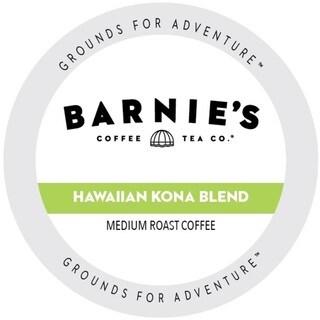 Barnie's Coffee Kitchen Hawaiian Kona Blend Dark Roast Sweet and Bright Single Serve Coffee Cups for Keurig Brewers 88 Count