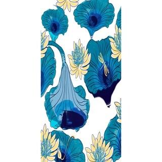 28 X 58 Inch Lotokoi Floral Print Bath Towel