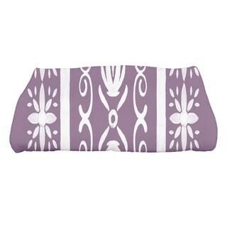28 X 58 Inch Cuban Tile 2 Geometric Print Bath Towel