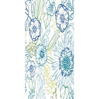 28 X 58 Inch Zentangle 4 Color Floral Print Bath Towel