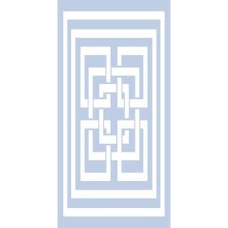 28 x 58 Inch Greek New Key Geometric Print Bath Towel