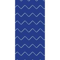 28 x 58 inch Harlequin Stripe Geometric Print Bath Towel
