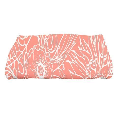 30 x 60 Inch Zentangle 4 Floral Print Bath Towel