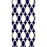 28 X 58 Inch Small Modcircles Geometric Print Bath Towel