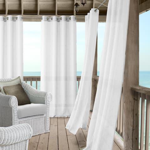 Elrene Bali Sheer Indoor/Outdoor Window Panel Curtain