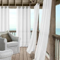 Elrene Bali Sheer Indoor/ Outdoor Window Panel Curtain