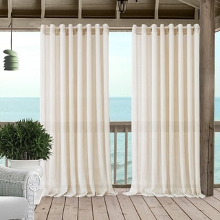 Link to Carmen Sheer Extra Wide Indoor/Outdoor Sheer Window Curtain Similar Items in Outdoor Decor