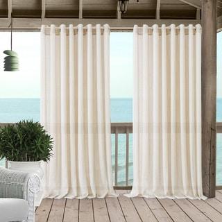 Link to Carmen Sheer Extra Wide Indoor/Outdoor Sheer Window Curtain Similar Items in Window Treatments