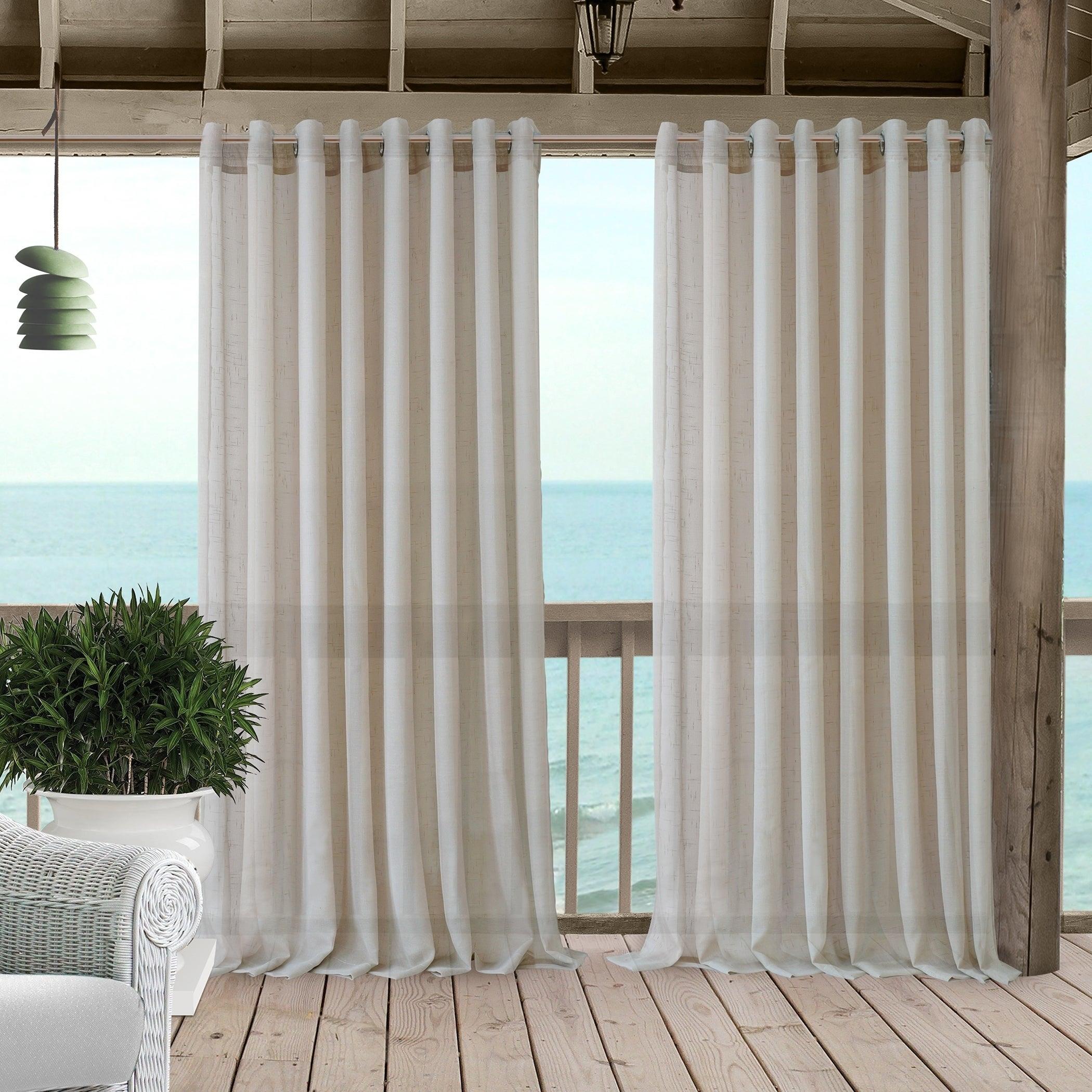 Elrene Carmen Sheer Indoor Outdoor Window Panel Curtain Ebay