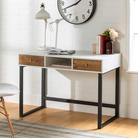 "44"" Modern Two-Tone Writing Desk"