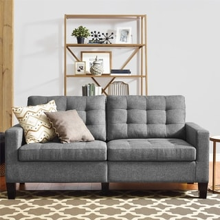 Deals on Avenue Greene Reba Grey Sofa
