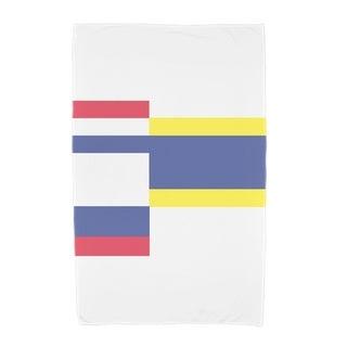 30 x 60 Inch Multi Abstract Geometric Print Beach Towel