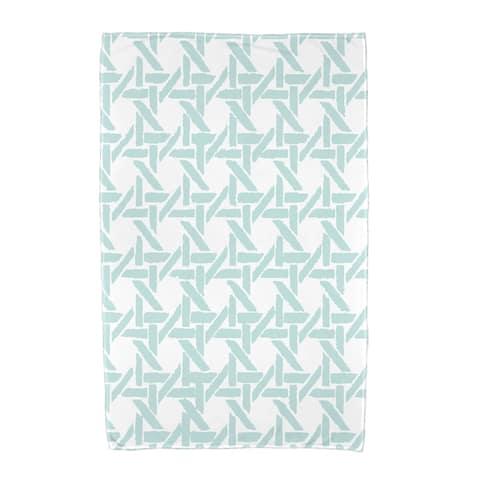 36 x 72 inch Rattan Geometric Geometric Print Beach Towel