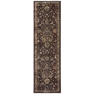 Honored Traditions Brown/ Ivory Area Rug - 2'3 x 7'6