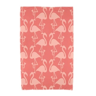 30 x 60 inch Flamingo Heart Martini Animal Print Beach Towel