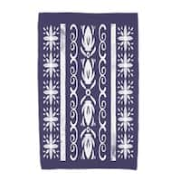 36 x 72 Inch Cuban Tile 2 Geometric Print Beach Towel