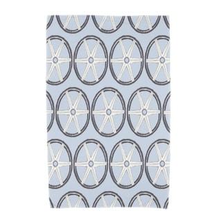 30 x 60 Inch Nautical Geo Lines Geometric Print Beach Towel