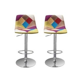 Best Master Furniture Dahlia Multicolored Adjustable Swivel Bar Stools (Set of 2)