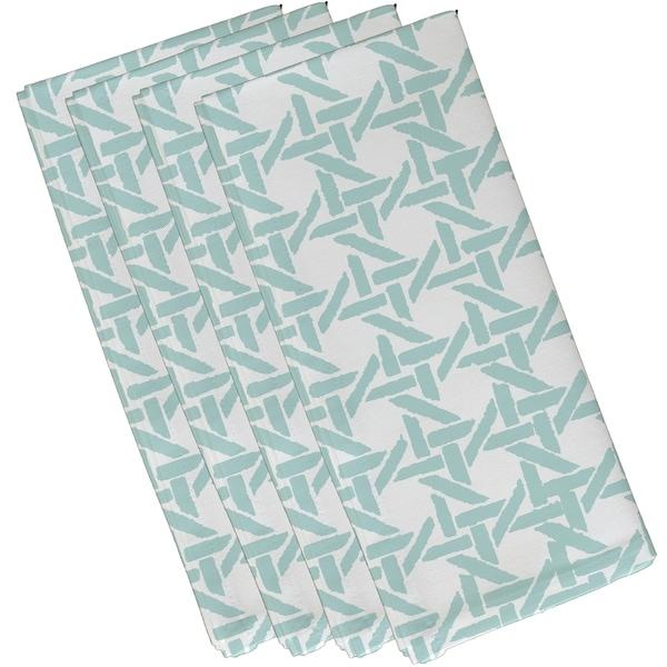 19 x 19 inch Rattan Geometric Geometric Print Napkin (set of 4)
