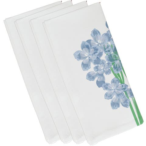 22 x 22 Inch Florpalida Floral Print Napkin (Set of 4)