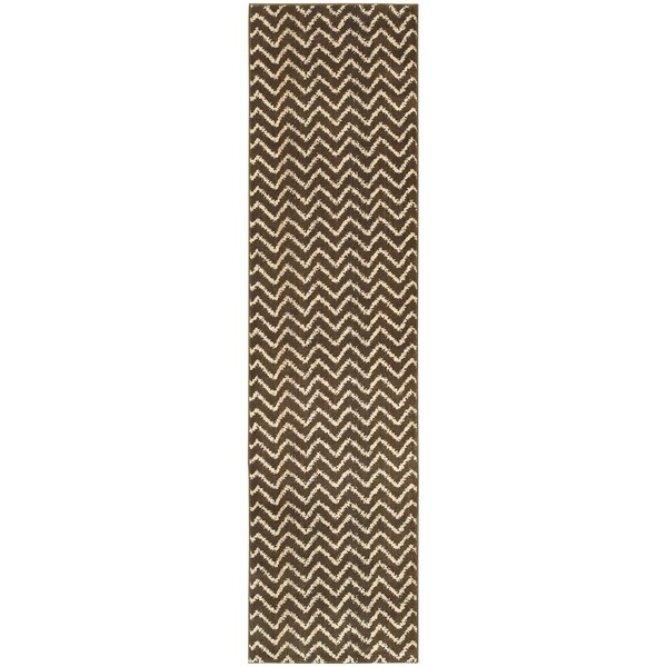 Shop Old World Tribal Brown/ Ivory Area Rug (2'7X10')