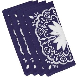 19 X 19 Inch Cuban Tile 1 Geometric Print Napkin (Set of 4)