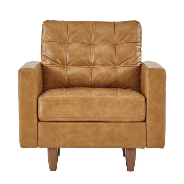 Astonishing Shop Odin Caramel Leather Gel Accent Chair By Inspire Q Cjindustries Chair Design For Home Cjindustriesco