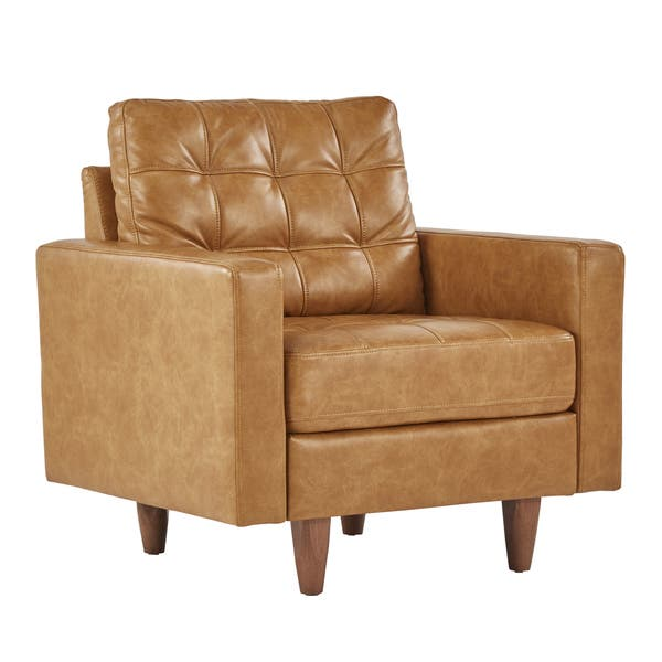 Tremendous Shop Odin Caramel Leather Gel Accent Chair By Inspire Q Cjindustries Chair Design For Home Cjindustriesco