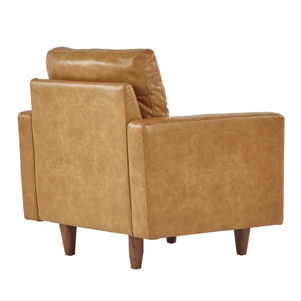 Fantastic Shop Odin Caramel Leather Gel Accent Chair By Inspire Q Gmtry Best Dining Table And Chair Ideas Images Gmtryco