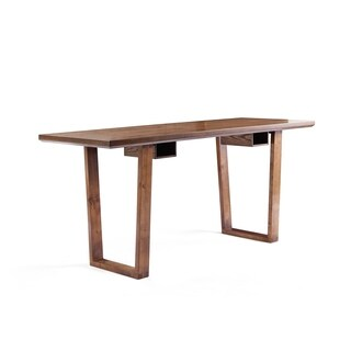 Haven Home Aiden Oak-Finish Wood Writing Desk