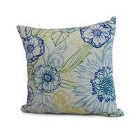 18 x 18 Inch Zentangle 4 Color Floral Print Pillow