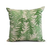 18 x 18 Inch Spikey Floral Print Pillow