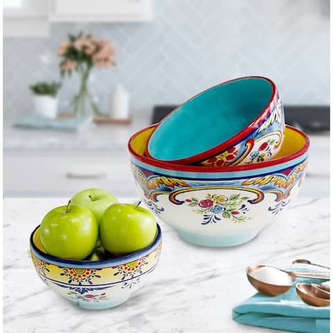 Euro Ceramica Zanzibar 3-piece Mixing Bowl Set