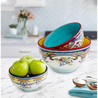 Euro Ceramica Zanzibar 3-piece Mixing Bowl Set