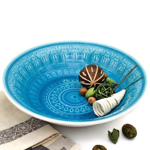 Euro Ceramica Fez 12-inch Serving Bowl