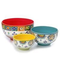 Euro Ceramica Mumbai 3-piece Mixing Bowl Set