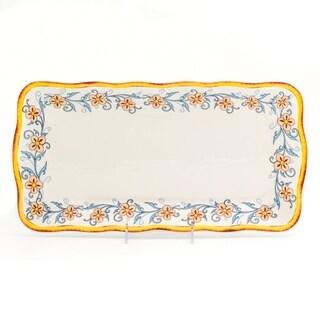 Euro Ceramica Duomo 16.75-inch Rectangular Appetizer Plate