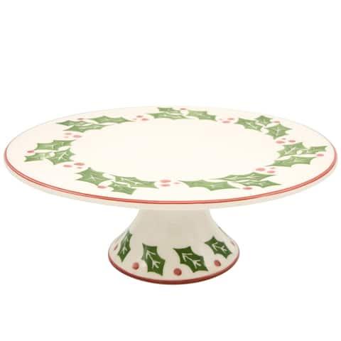 Euro Ceramica Natal Cake Plate